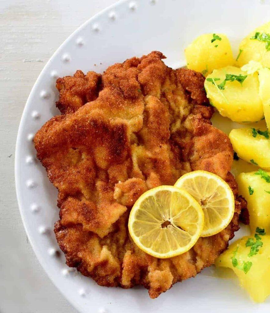 wiener schnitzel vídeňský řízek Weinersnitchel