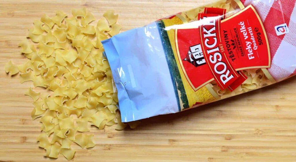 Czech fleky pasta shape