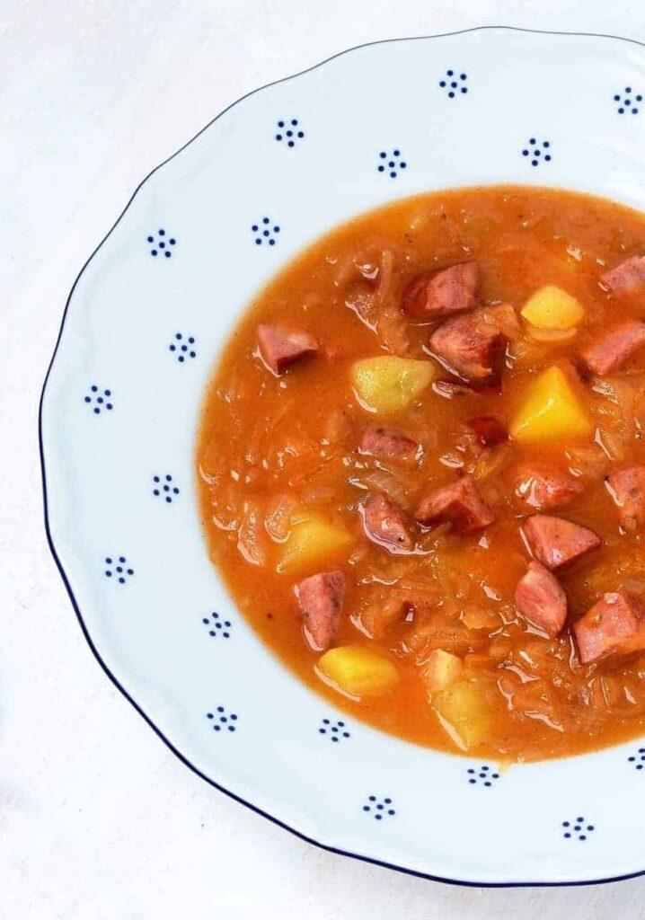 Czech sauerkraut soup