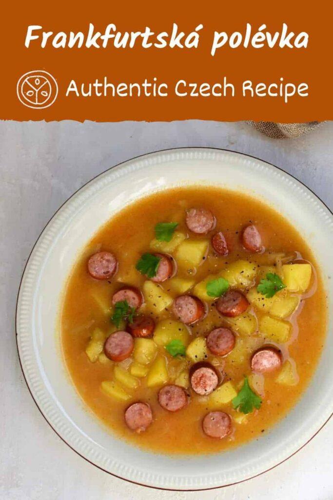 Czech frankfurtská polévka recipe